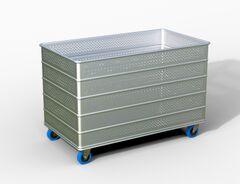 Bac simple aluminium perforé CHARGER EN VRAC ET VOLUME