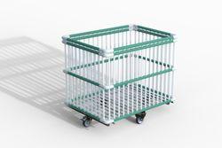 Moplen chariot à barreaux plastiques 102x63x83 cm Moplen à barreaux plastiques