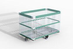 Moplen chariot à barreaux plastiques 134x75x86 cm Moplen à barreaux plastiques