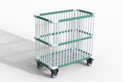 Moplen chariot à barreaux plastiques 83x48x78cm Moplen à barreaux plastiques