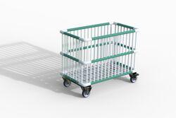 Moplen chariot à barreaux plastiques 83x48x62 cm Moplen à barreaux plastiques