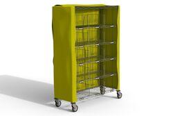 Housse polyester extérieure chariot 122x46x180cm Housse chariot à casiers