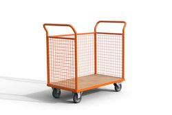Chariot magasinier grillagé 120x70x100 cm Chariot magasinier grillagé
